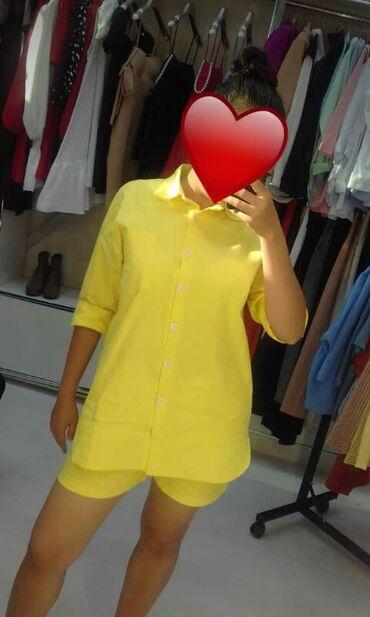 Летняя двойка рубашка шорты . Рубашка сзади длинная закрывает ягодицы