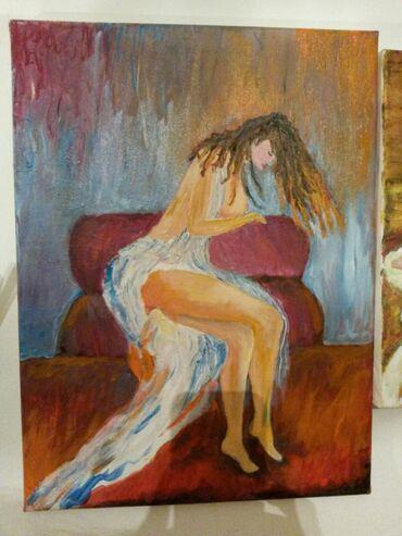 Slike   Sopot: Slika ulje na platnu. Bogat nanos boje. 40x30.Autorka Iv. Tel