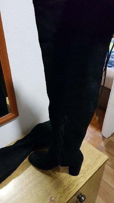 Ostalo   Majdanpek: Cizme preko kolena,br 40.Nosene samo jednom,bukvalno nove
