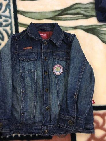 Теплая джинсовая куртка на мальчика на 2 года почти новая! 👍 в Бишкек