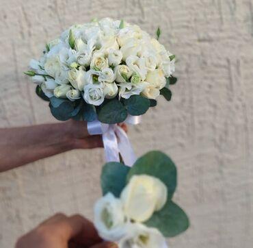 Свадебные аксессуары - Кыргызстан: Свадебный букет невесты  Искусственные и не искусственные  Принимаем з
