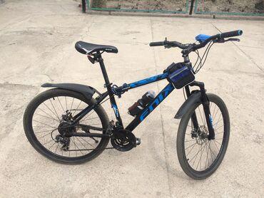 велосипеды для малышей в Кыргызстан: Продам горный велосипед в хорошем состоянииРама стальнаяКолеса 26Обода