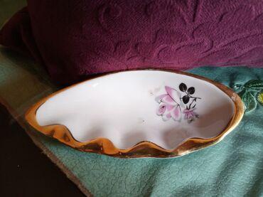 Porcelan - Srbija: Pepeljara nova Titov Veles porcelan. Visina 2cm. Duzina