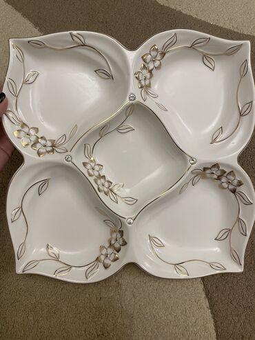 тарелка блюдце в Кыргызстан: Тарелка под сухофрукты, 700 сом, новая, со стразами