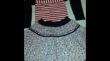 Suknja, top, majca i bolero u kompletu za devojčice, veličina 10, - Obrenovac
