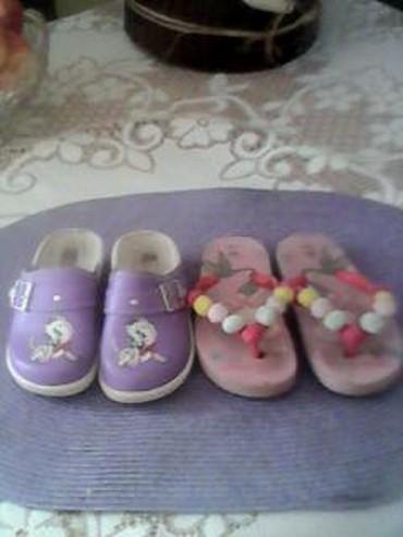 Dečije Cipele i Čizme | Sid: Preslatke klompice i japankice kao nove,obe broj 25.Cena za oba para