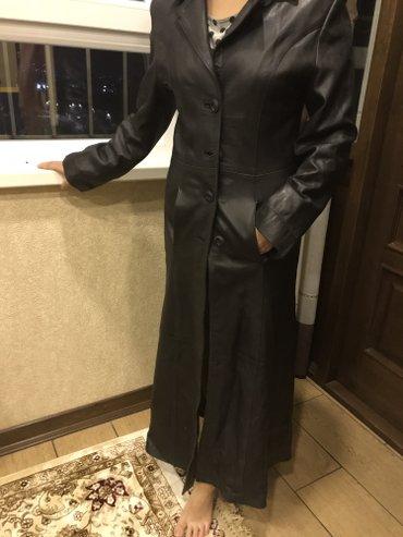 Шикарный итальянский кожанныц плащ , кожа очень мягкая! Размер с-м!!!! в Бишкек