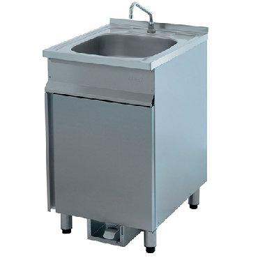 Кухонные мойки в Кыргызстан: Рукомойник напольный ВРН-600 с педалью (500х600х870мм, AISI304) Ванна