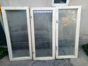 Деревянные двойные окна (белые) (одно в Бишкек