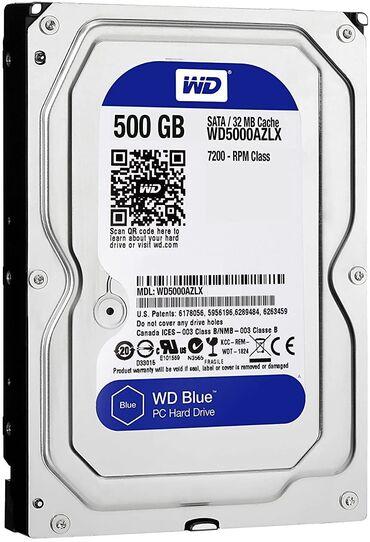 """- Azərbaycan: Sərt disk (HDD) Western Digital - 500GBForm faktor - 3.5"""", Fırlanma"""