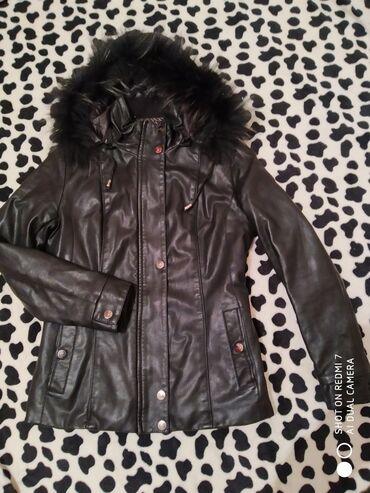 Женская кожаная куртка, натуральная кожа, 42 размер, утепленная, можно