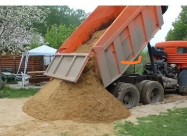 uslugi zil kamaz в Кыргызстан: Песок, ивановский, сеяныйпростой, глинаКАМАЗ доставка, щебень