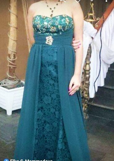 Bakı şəhərində Вечернее платье зелёный цвет 38размер.