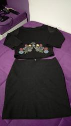 Din suknja - Srbija: Suknja i bluza, velicina S. u kompletu za 1200 din
