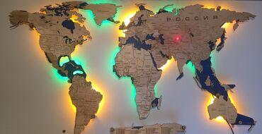 платья для беременных бишкек в Кыргызстан: Карта мира из дерева с часами с подсветкой декор на стену