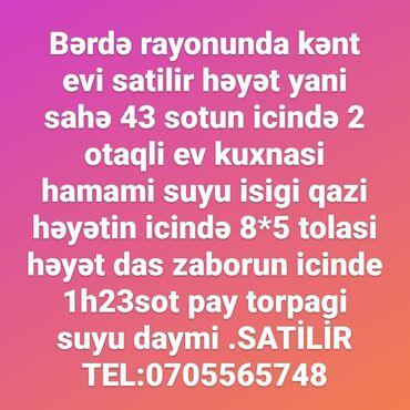 10 elan | İŞ: Bərdə rayon hacalli kəndində həyət evi satilir