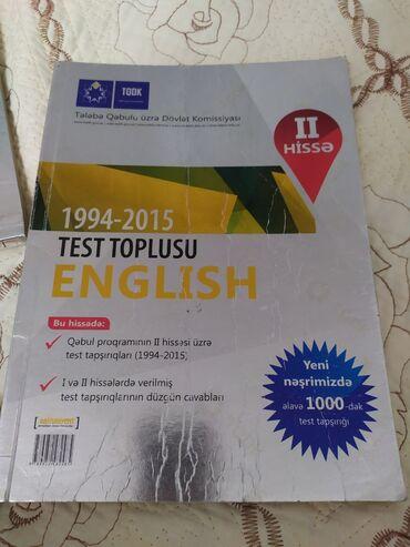 Ingilis dili test toplusu Içi teptezedir