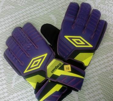 Golmanske rukavice Umbro, veličina 10. Nove, nisu korišćene - Stara Pazova