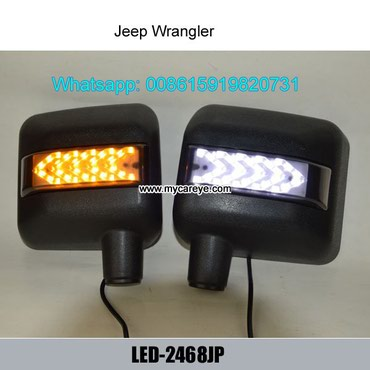 Jeep Wrangler Car Led Turn Signal Side Mirror Amber Rear View Turn in Malangawa