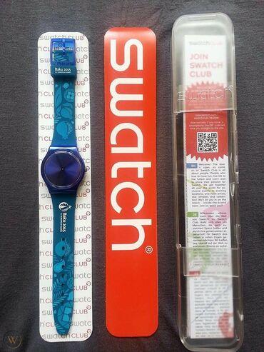 rabota gornichnoi v gostinitse в Азербайджан: Голубой Унисекс Наручные часы Swatch
