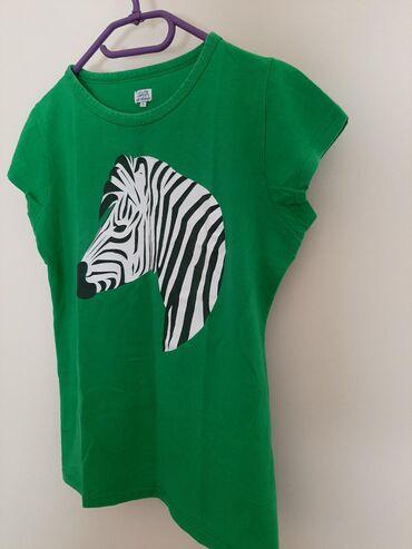 Majica pamuk elastin sa printom zebre. Vel M/L