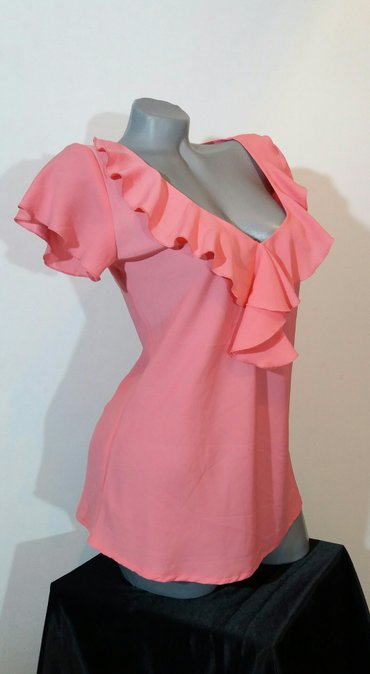 Prelepa pink orsey bluzica,nezna i zenstvena,sa romanticnim karnerima - Belgrade