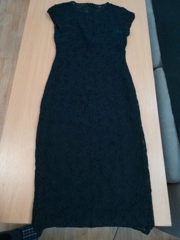 Zara crna svecana cipkasta haljina, m velicina - Pozega
