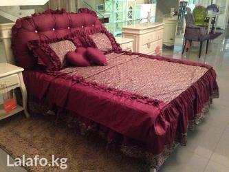 декоративные наволочки на подушки в Кыргызстан: Красивое постельное белье на кровать шириной 1,8 метра-спинка+2