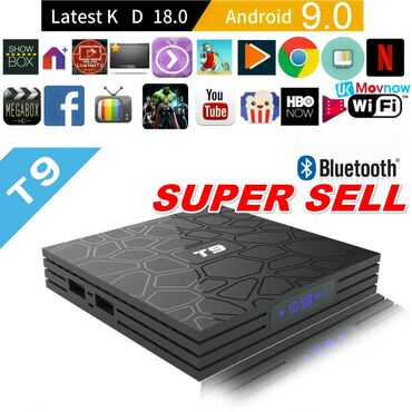 smart tv box - Azərbaycan: Tv box android smart tv box tuneroriginal t9 4k 4/32gb android smart