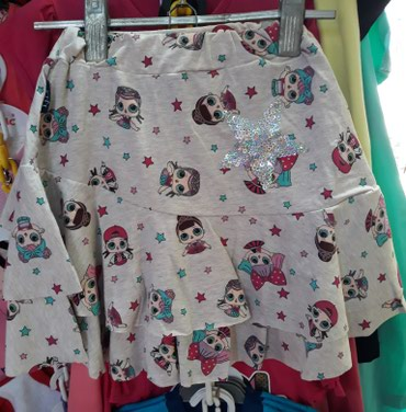 Dečija odeća i obuća | Novi Sad: Pamučne LOL suknje za devojčice, veličine od 2-10