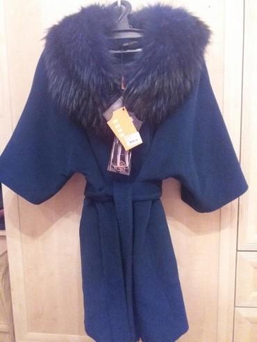 пальто лама в Кыргызстан: Пальто,турецкое качество, темно синего цвета, из мягкой ламы, с