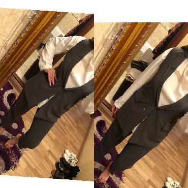 Брючный костюм женский вечерний - Кыргызстан: Продаю!Серый костюм для офиса