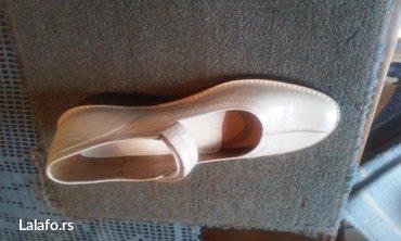 Nove bele kozne cipele broj 40.Gaziste 26,5 cm,stikla 3 cm. - Zrenjanin
