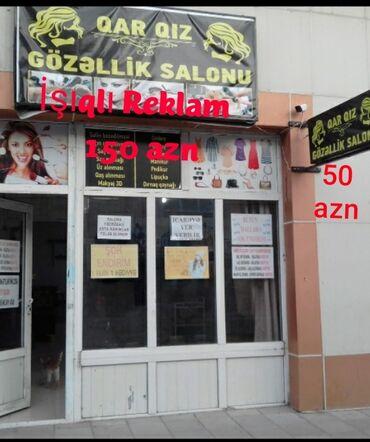 Reklam, poliqrafiya - Azərbaycan: Gözəllik salonu üçün işıqlı reklamlar salon baqlandiqi üçün