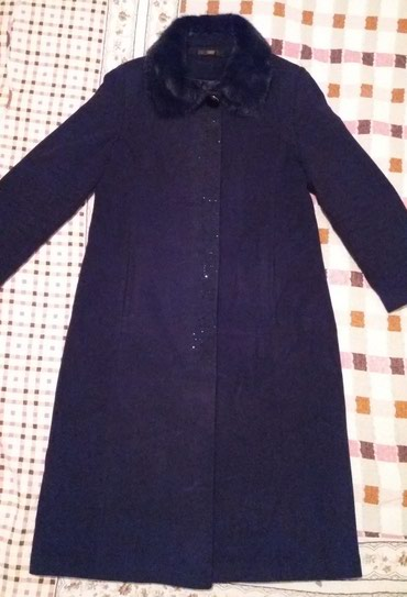 Продаю красивое пальто темно синего в Бишкек