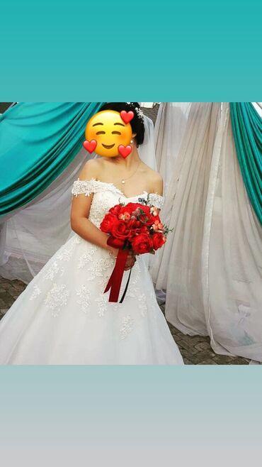 свадебный букет в Кыргызстан: Продаётся свадебное платье. Очень нежное и лёгкое. Носилось только