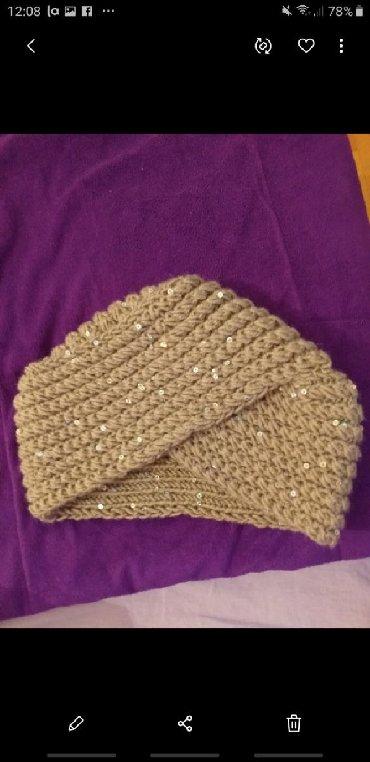 Pletena jaknica - Srbija: Kapa turban rucno pletena