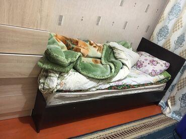 Односпальные кровати - Кыргызстан: Кровать. Продаю одноместную кровать с матрасом. Каркас железный. Состо