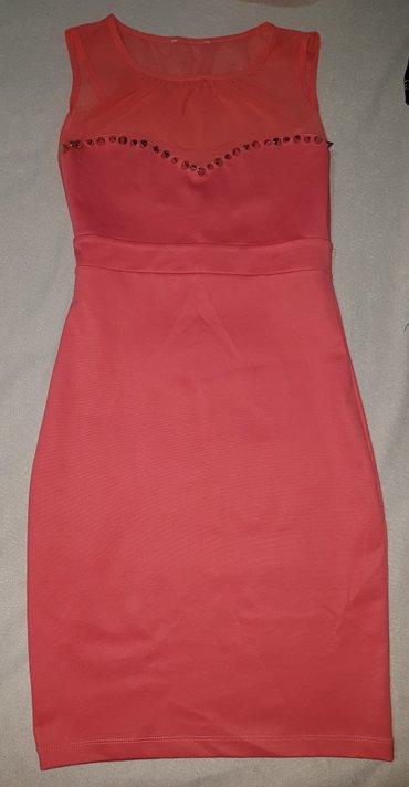 Strukirana-bundica-m - Srbija: Prelepa strukirana haljina koralne boje velicina S/M
