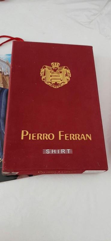 PIERRO FERRAN Yenidir qara duymeli ve qollu koynek 41 razmer