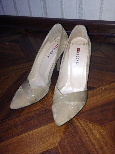 Продаю новые классные фирменные туфли бежевого цвета,размер 39-40 цена в Бишкек