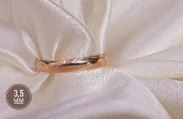 Другие украшения - Кыргызстан: Обручальное кольцо. Красное золото. 595 проба