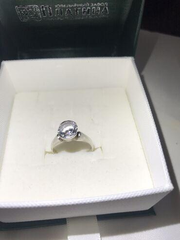 Чистое серебро 925 пробы  Кольцо с камнем муассанит (отшлифовать будет