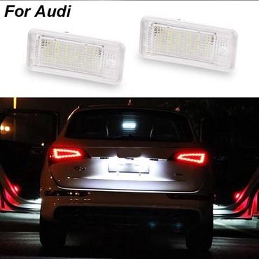 audi-80-26-at - Azərbaycan: Audi nomrə ucun led işiqlar. Təmiz ağ işıq verir. Paneldə oşibka
