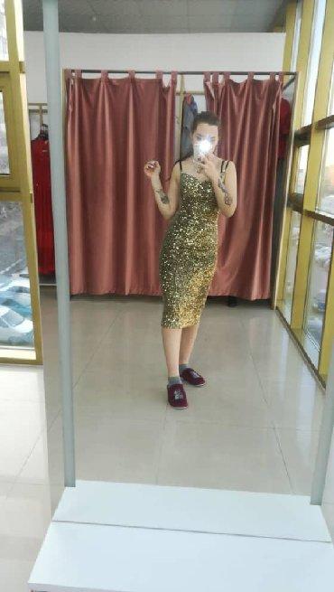 юбка в паетках в Кыргызстан: ПРОДАЮ! Платье в паетках золотое. Новое, не ношенное. Очень мягкое с
