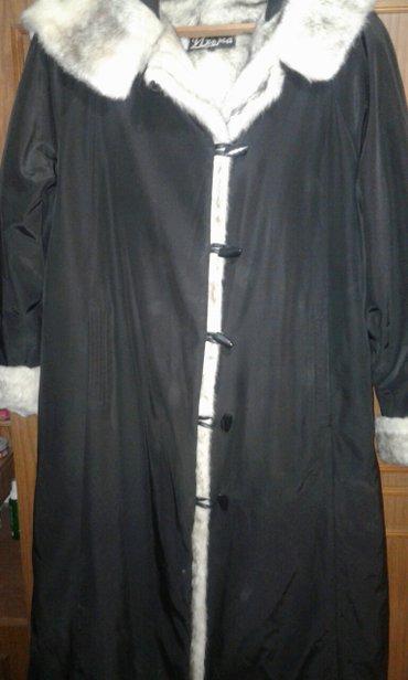 пальто плащевка мех искусственный. размер 50 новое привезено из России в Бишкек