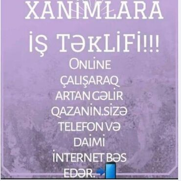 Работа в Масаллы: Xanimlara iş təklifi