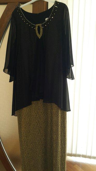 Bakı şəhərində Продается платье большого размера черное с золотом