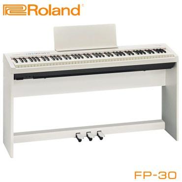 гибкое пианино в Кыргызстан: Пианино Roland FP-30 – бюджетная новинка с премиальными