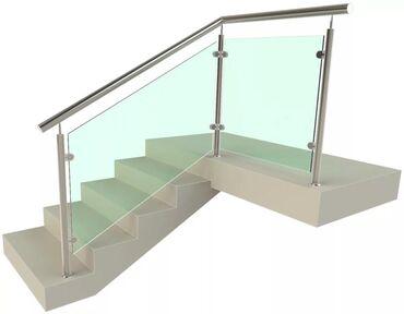 стеклянные перегородки бишкек в Кыргызстан: Лестницы | Монтаж | Нержавеющая сталь